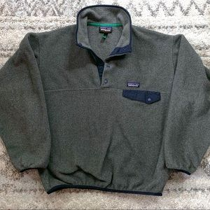 Patagonia Synchilla Gray Blue Snap Sweater S
